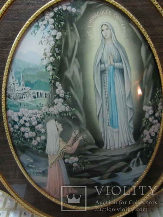 """Старинная икона """"Madonna l'immaculee conception"""", XIX век, Германия, фото №3"""