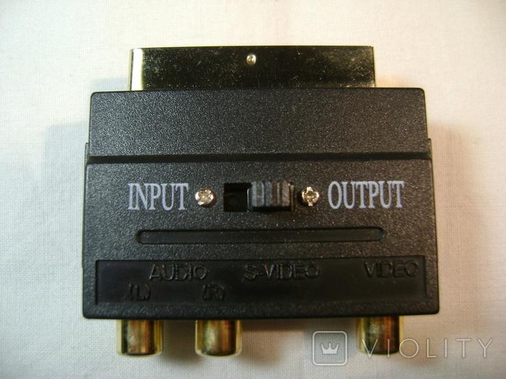Переходник SCART - VIDEO, AUDIO, S-VIDEO с переключателем вход-выход, фото №2