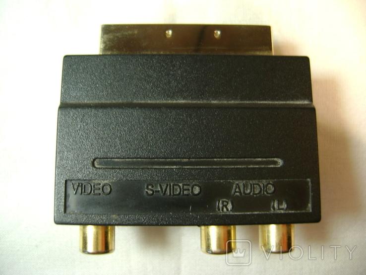 Переходник SCART - VIDEO, AUDIO, S-VIDEO с переключателем вход-выход, фото №3