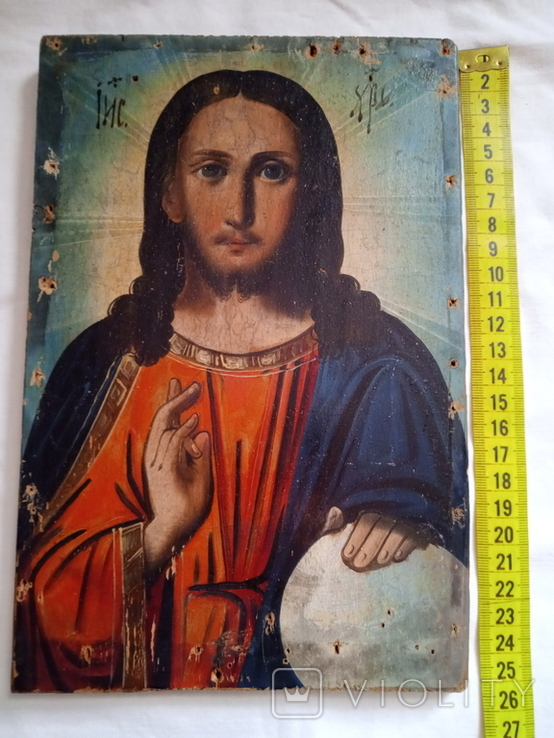 Ікона Ісус Христос Вседержитель 16.5×24,5 смм, фото №4