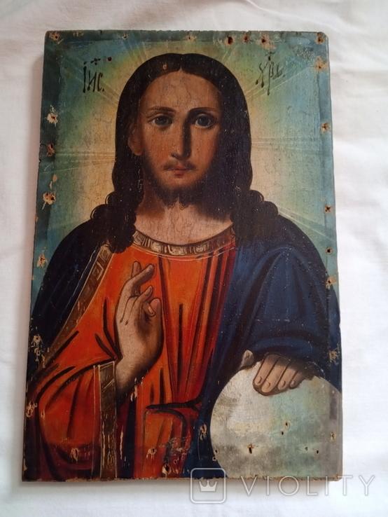 Ікона Ісус Христос Вседержитель 16.5×24,5 смм, фото №7