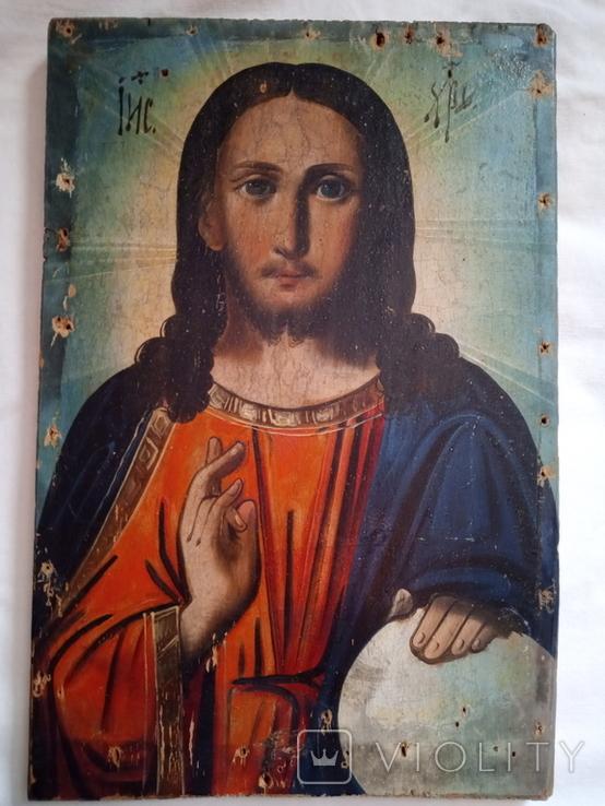 Ікона Ісус Христос Вседержитель 16.5×24,5 смм, фото №2