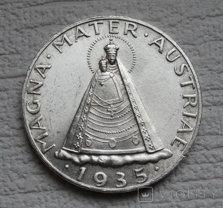 5 шиллингов 1935 г. Австрия, серебро, фото №2