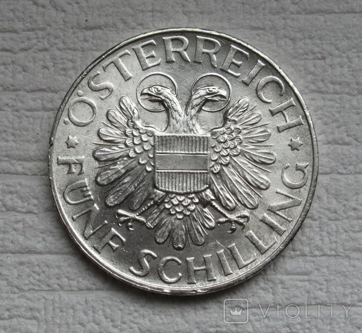 5 шиллингов 1935 г. Австрия, серебро, фото №6