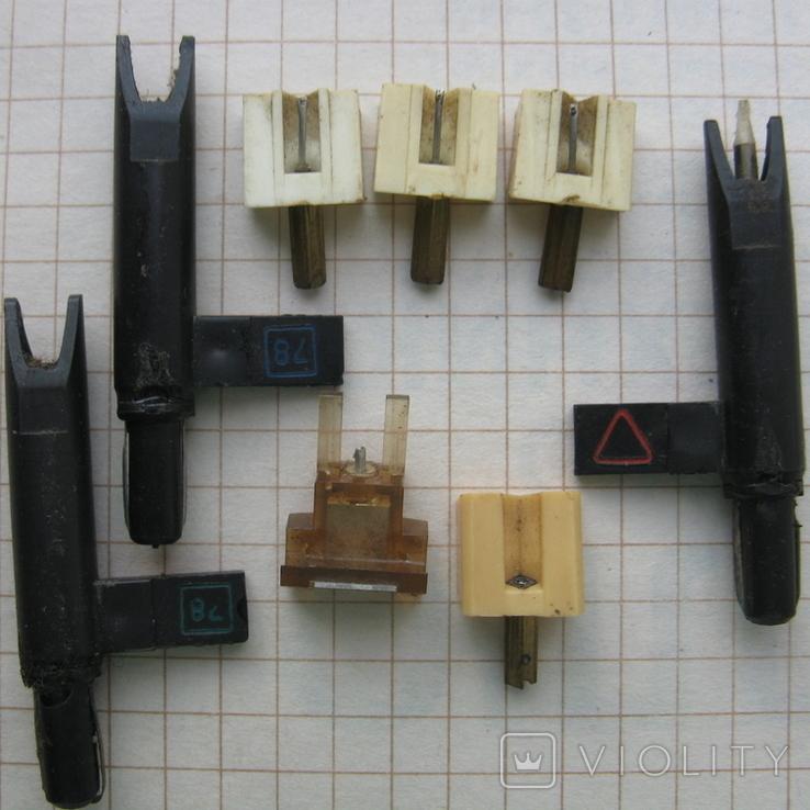 Звукоснимательные иглы, под восстановление- 8 шт., фото №2