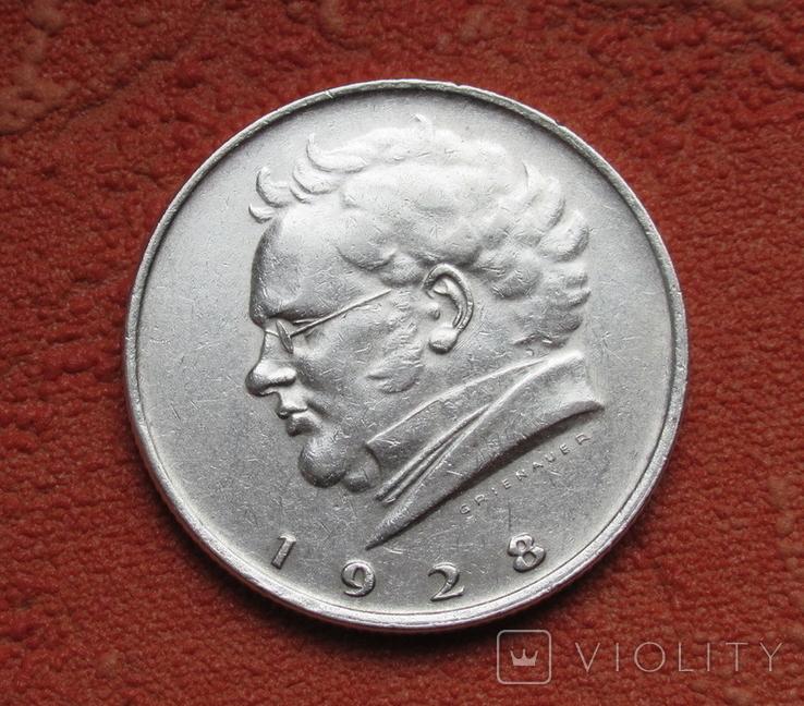 "2 шиллинга 1928 г. Австрия, "" Франц Шуберт "", серебро, фото №3"