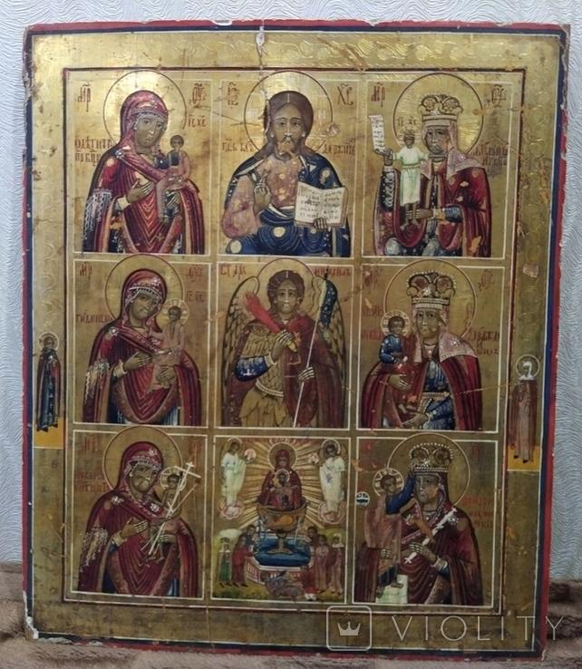 Икона - девятичастник Св.Михаил,обр.Богоматери...., фото №7