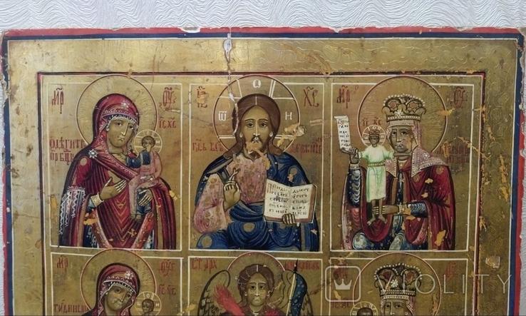 Икона - девятичастник Св.Михаил,обр.Богоматери...., фото №9