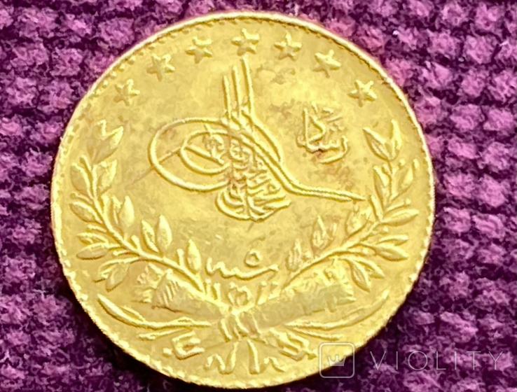 25 куруш. Турция. 1909 г. (вес: 1,8г, GOLD 0.917), фото №3