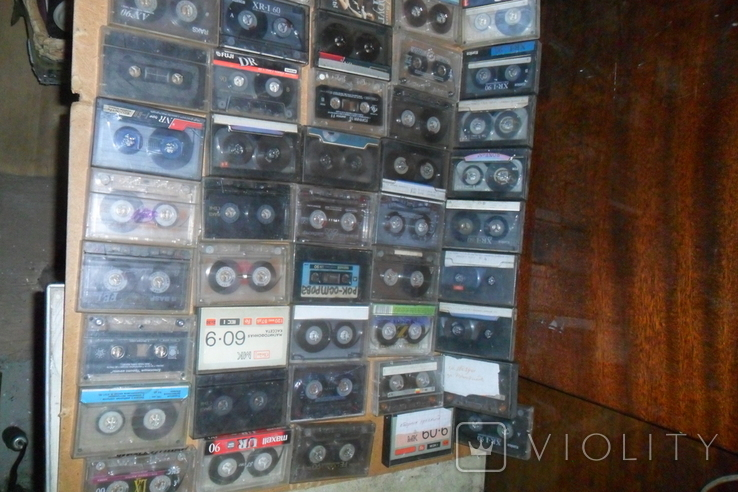 Аудио кассеты 135 штук + бонус аудиокассеты, фото №4