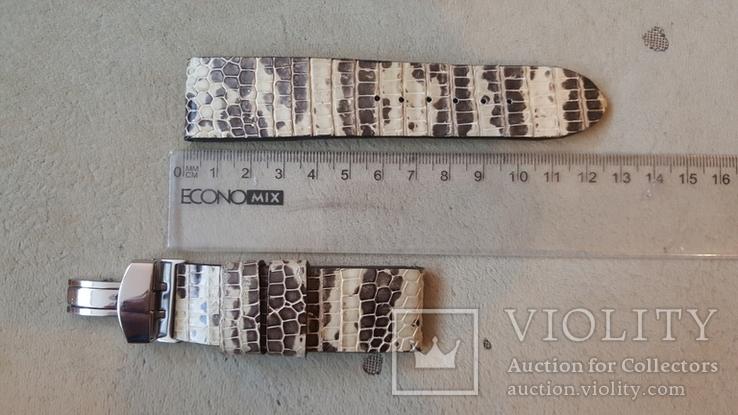 Ремень из кожи игуаны 24/22 мм, фото №2