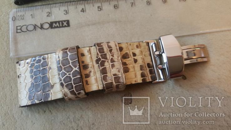 Ремень из кожи игуаны 24/22 мм, фото №4