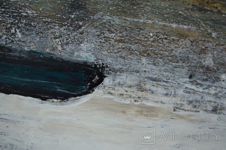 """Абстрактная картина """"Рисовые поля"""", холст, масло, 40х50см, фото №3"""