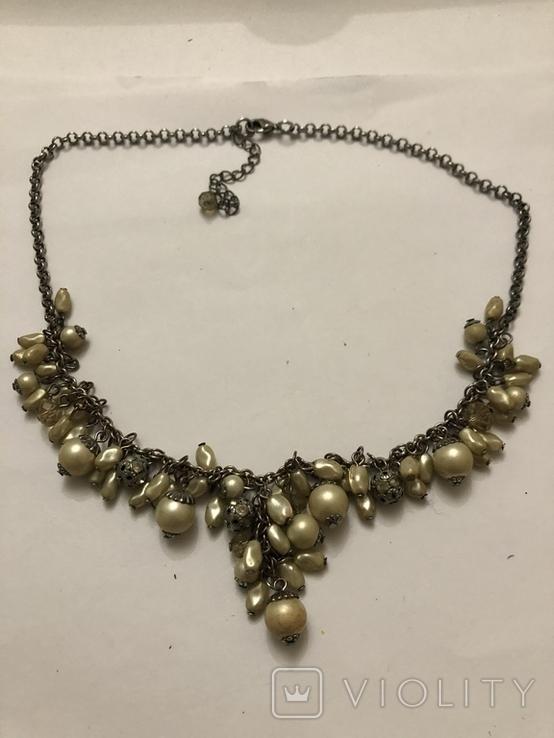 Ожерелье колье винтаж бижутерия, фото №3