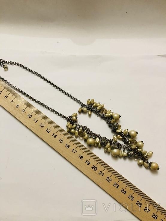 Ожерелье колье винтаж бижутерия, фото №10