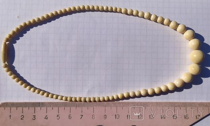 Бусы слоновая кость(лот 2)., фото №3