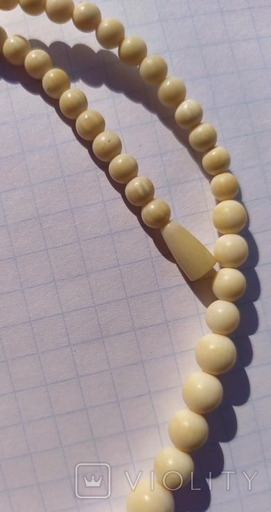Бусы слоновая кость(лот 2)., фото №8