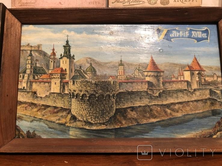 Львов (картон, масло). Киев-фото, фото №3