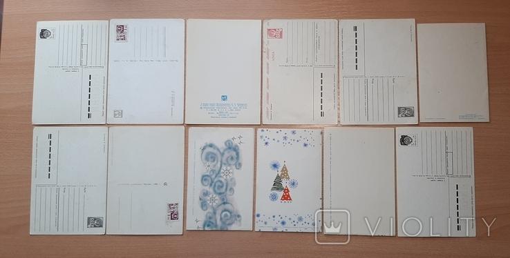 Новогодний открытки(5). 12 штук, фото №3