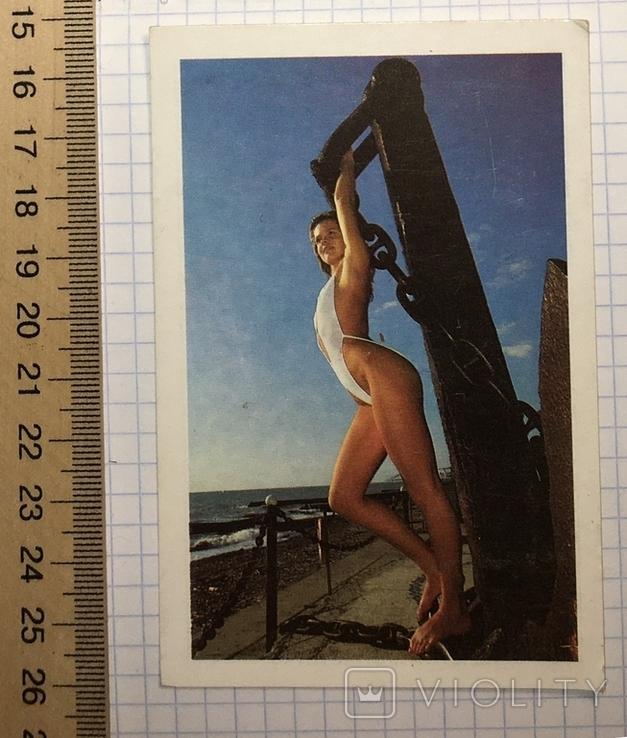 3 календарика  девушки, эротика, 1991 г.  / дівчата, еротика, фото №7