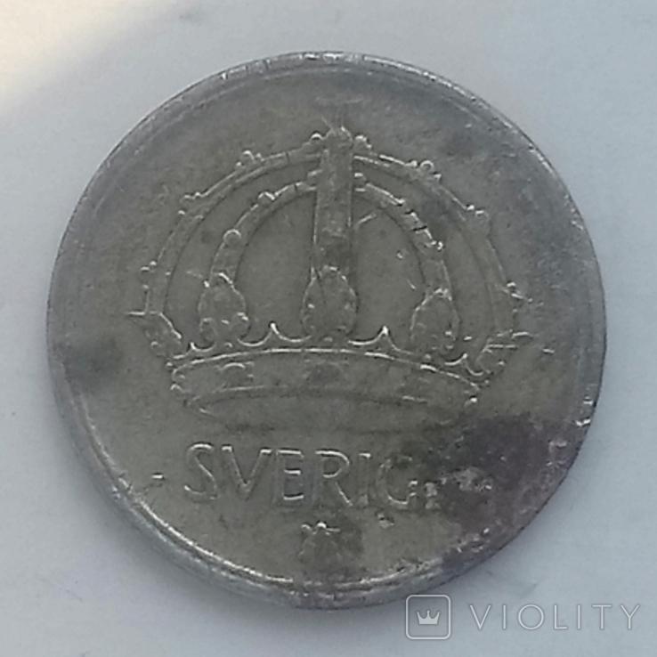 25 эре 1943г (серебро) Швеция, фото №3