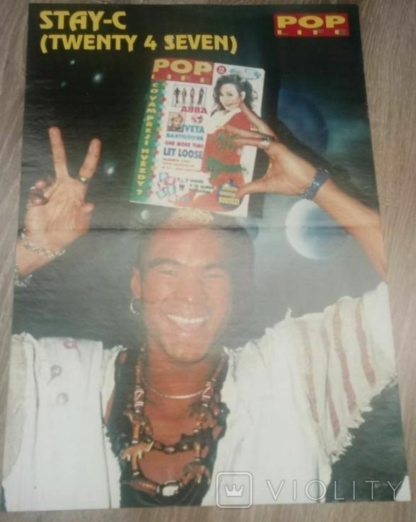 Постер Sean Maguire / Stay-C (Twenty 4 Seven) двохсторонній 40,7х28,3 см з журналу Poplife, фото №3