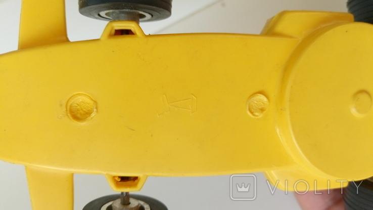 Машинка гонка желтая (№ 2), фото №4