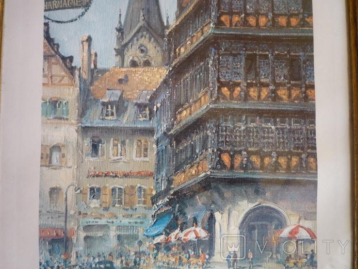 Картина французького художника париж 1971 г подпись, фото №4