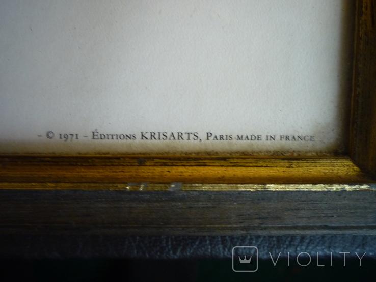 Картина французького художника париж 1971 г подпись, фото №8