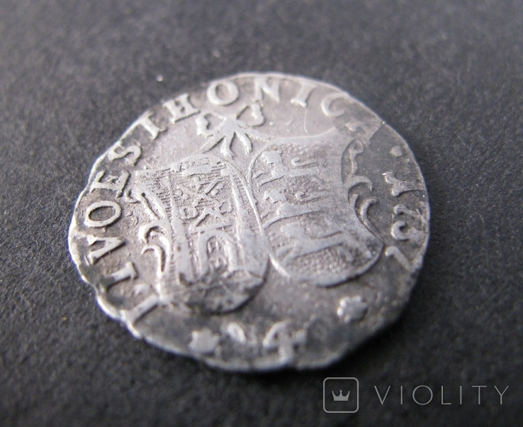 4 копейки 1757 г. Ливонез. Ливония