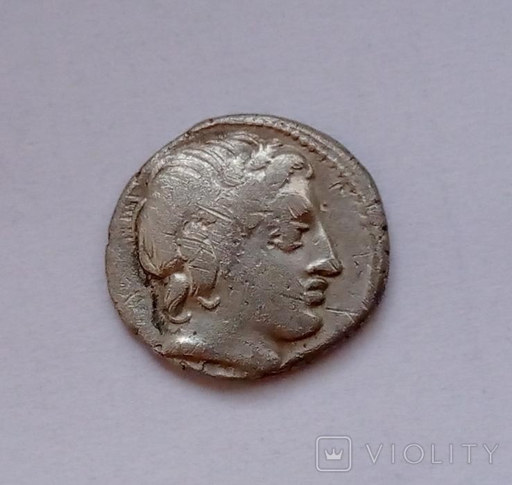 Денарий Римской республики, анонимный, 86 г. до н.э.