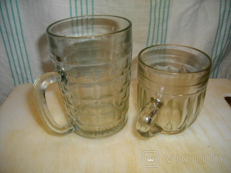 Большой (0,5 литра) и малый (0,25 литра) пивные бокалы (СССР) одним лотом, фото №2