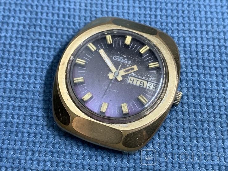 Слава Au10 Часы наручные мужские СССР в позолоте Идут