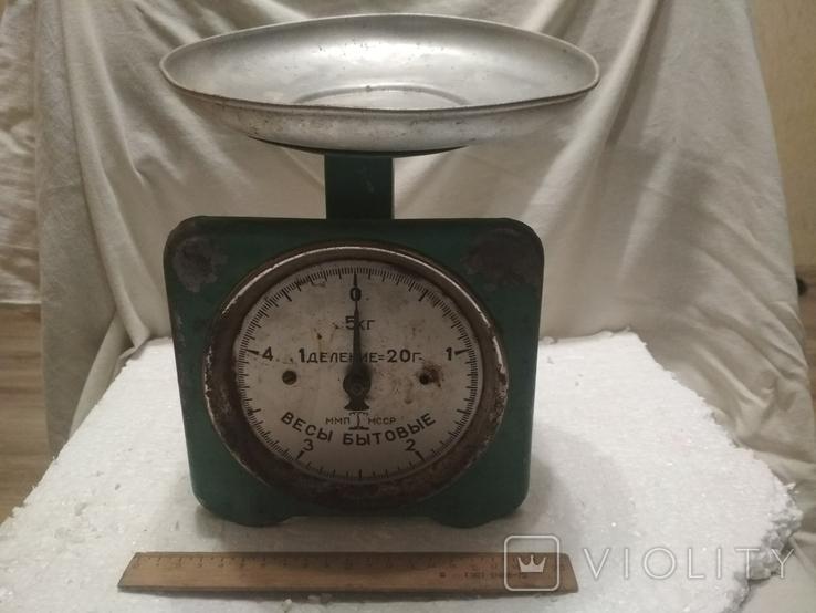 Весы бытовые СССР, на 5 кг., показатели точные, фото №2