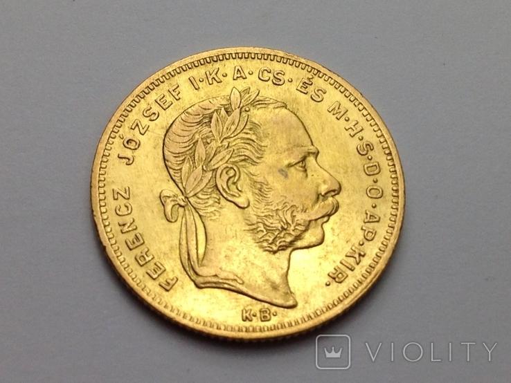 20 франков 8 форинтов 1877 г., Австро-Венгрия
