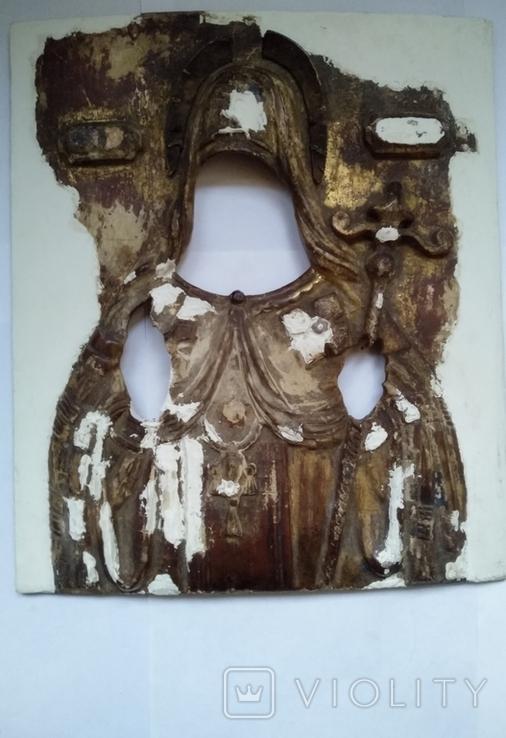 Старинная Икона в деревянном окладе ( Митрофан Воронежский ), фото №11