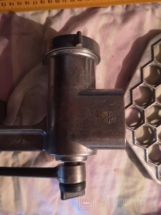 Мясорубка алюминиевая силумин Мотор Сич клеймо пельменница, фото №5