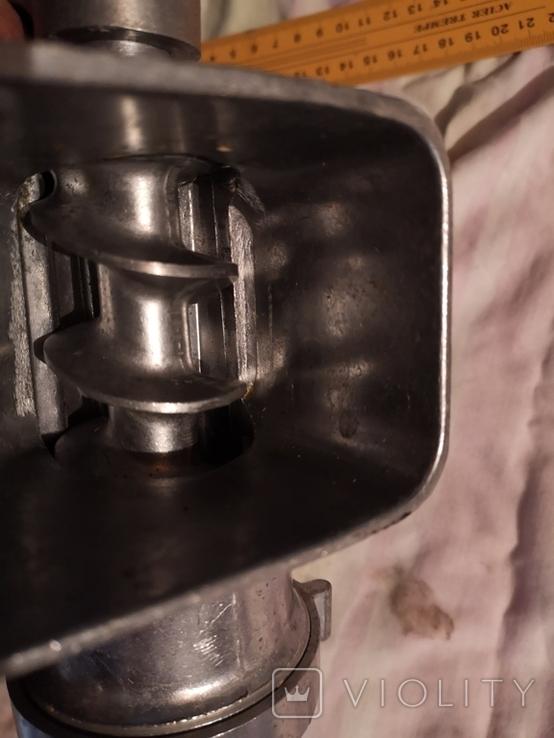 Мясорубка алюминиевая силумин Мотор Сич клеймо пельменница, фото №13