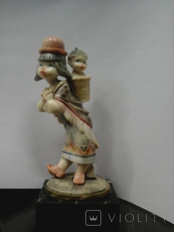 """Статуэтка """"Мама"""", слоновая кость, 20-30-е гг. XX в., авторская работа, Италия, фото №2"""