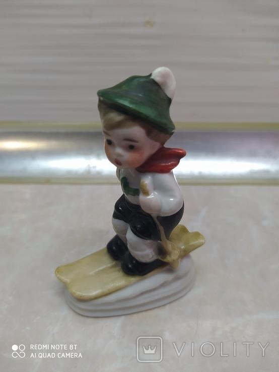 Статуэтка Мальчик на лыжах, фото №2