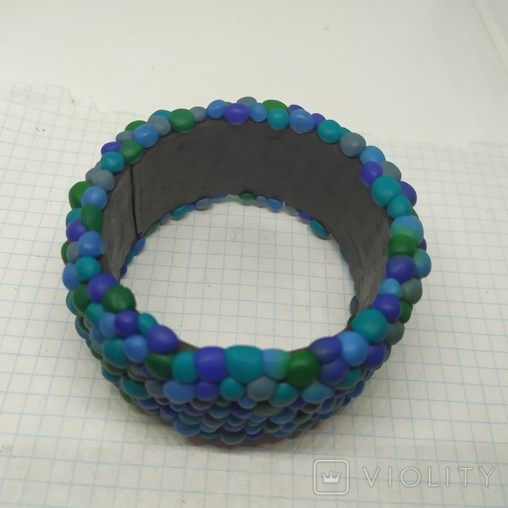 Широкий браслет в сине-бирюзовых тонах (3), фото №7