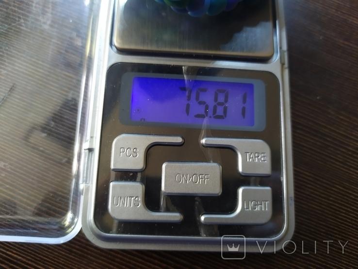 Широкий браслет в сине-бирюзовых тонах (3), фото №8