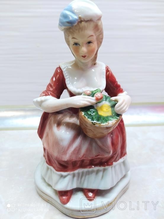 Статуэтка Дама с розами, фото №2