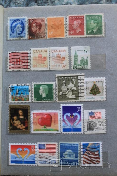 Марки США, Канада, Европа 350 шт, фото №4