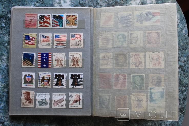 Марки США, Канада, Европа 350 шт, фото №5