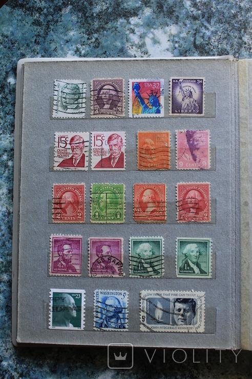Марки США, Канада, Европа 350 шт, фото №7