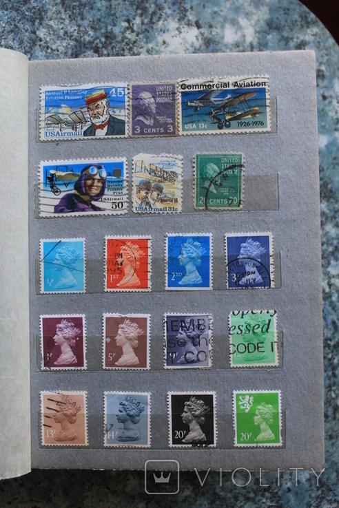 Марки США, Канада, Европа 350 шт, фото №8