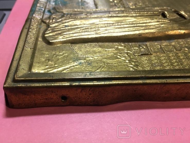 Оклад под икону'Св.пр.Серафим Саровский'(13х11)см, фото №4