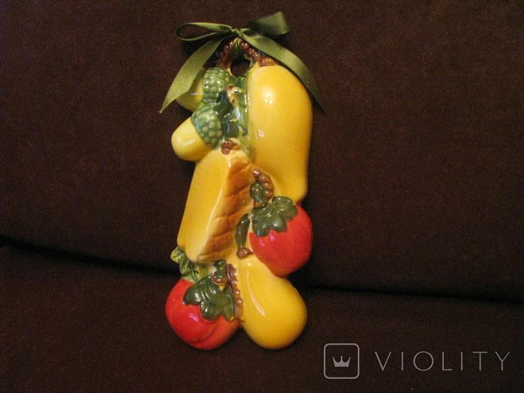 Плакетка - Ассорти с помидором - майолика., фото №2