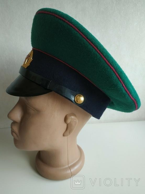 Фуражка пограничника ПВ КГБ СССР малиновый кант 1977 г, фото №4